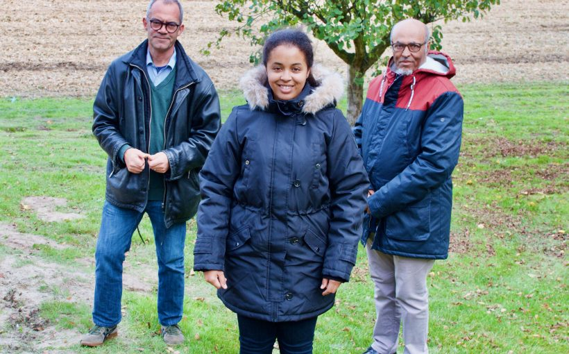 Freuen sich über die tolle Beteiligung an der Refinanzierung der lebensrettenden Behandlung: Bethlehem Mekonnen-Tekeste, ihr Vater Mekonnen Tekeste-Kiflu und Ulrich Coppel. Foto: Ulrich Coppel